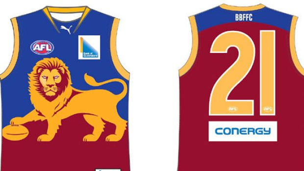 The Brisbane Lions' new home guernsey.