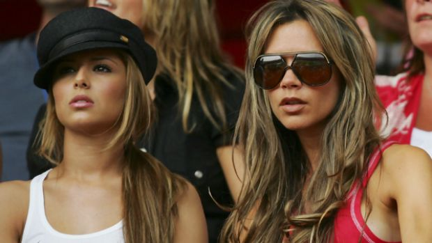 Supportive ... Victoria Beckham, right, got to know Cheryl Cole at World Cup 2006 in Germany.