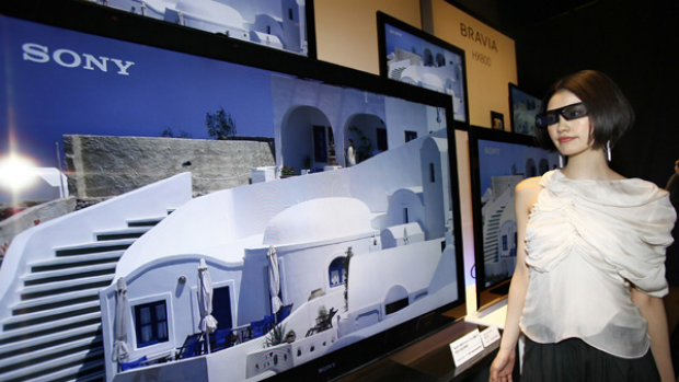 Sony launches its 3D television range in Japan.