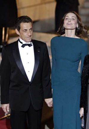 Romance  ...  Nicolas Sarkozy and Carla Bruni at a state dinner last week.