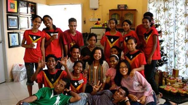 A photo of the Timorese youths at Christmas in Malaysia. Timorese officials say it is now safe for them to return to Dili.