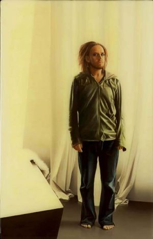 Winning portrait of Tim Minchin.