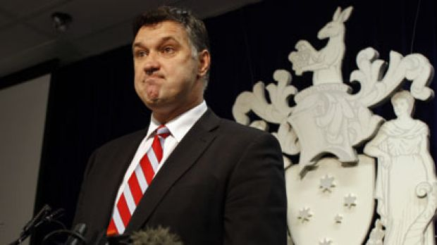 Justin Madden at a press conference earlier this year announcing the controversial Windsor redevelopment had been ...