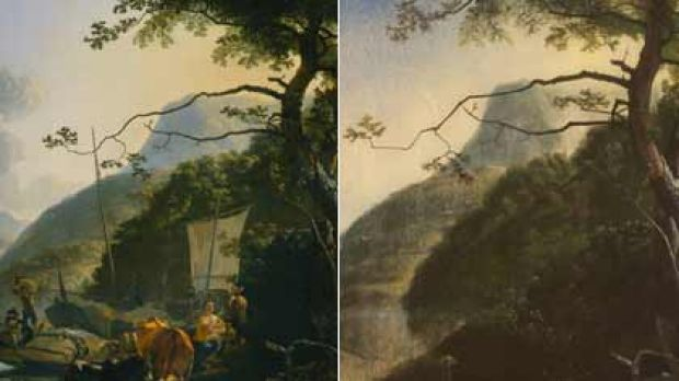 Get the picture ...  Pynacker's 17th-century painting, left, and Leach's  strikingly similar work, right.