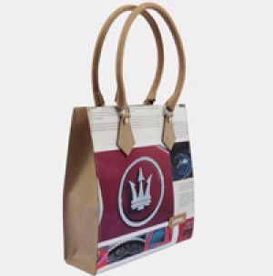 "Maserati's ""It"" bag is made from recycled brochures."