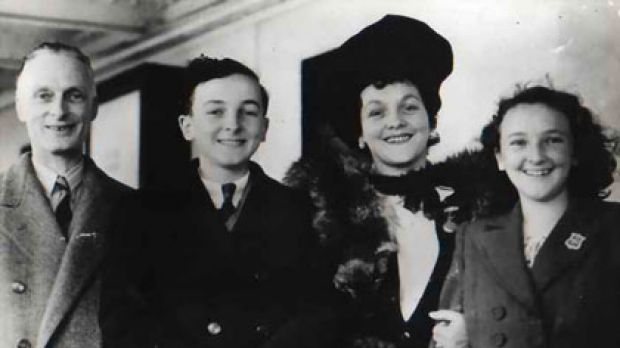 A tradition maintained ... the young Colm Kiernan with his father, mother and sister Orla.
