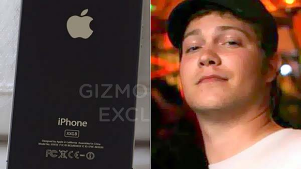 The prototype iPhone and Gray Powell, identified by Gizmodo as the Apple employee who lost the device.
