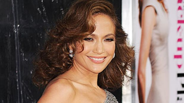 """Jennifer Lopez at the premiere of """"The Back Up Plan"""" in California."""