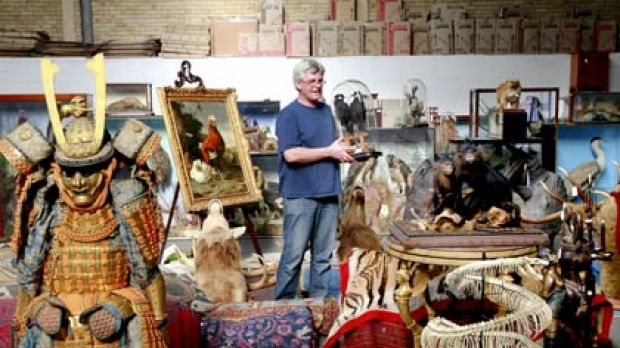 The antiquities specialist Tim Squires, from Bonhams, has flown from London for the auction.