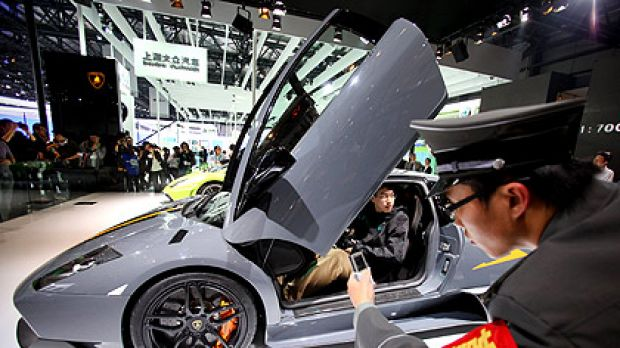 Motor show dreaming: Chinese motorists may aspire to Lamborghinis (above) but the government hopes they will find the ...