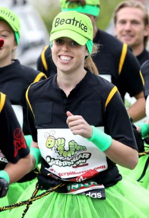 Princess Beatrice  takes part in the   London Marathon.