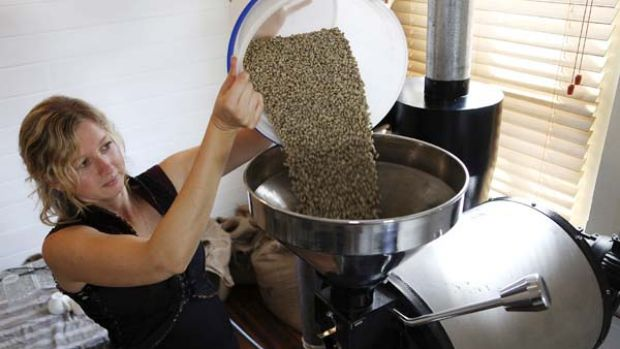 Not easy being green ... after many setbacks, Amelia Franklin's fair-trade coffee has won silver at the Sydney Royal ...