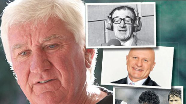 'I bash myself up more than most' ... Ray Warren admits he's his own harshest critic. Clockwise, from top, broadcasting ...