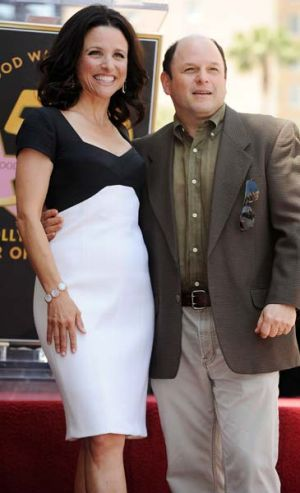 Julia Louis-Dreyfus with Seinfeld co-star Jason Alexander.