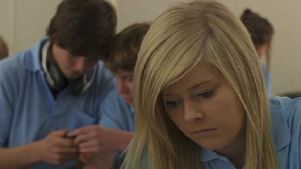 School games ... A scene from the anti-sexting film <i>Photograph</i>.