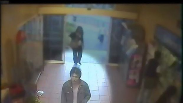 Security footage shows Haiming Chen, the man police wish to speak to in relation to the murder at Clayton Railway station.