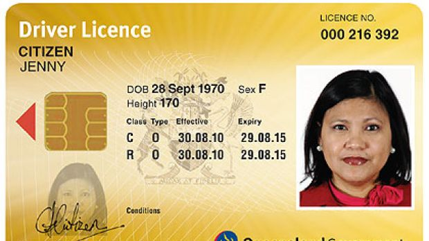 Top: the front of the new-look driver licences and the reverse, below.