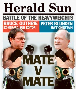 A mock-up of the Herald Sun's front page.