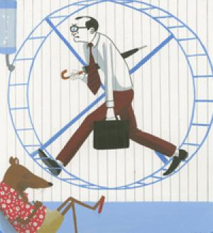 The rat race got even harder during the global downturn. Illustration: Simon Letch.