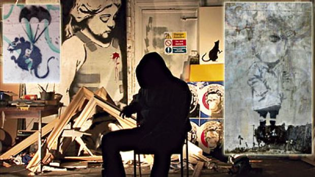 Man of mystery ... street artist Banksy, who has directed a new documentary, does not want highly valuable work, such as ...