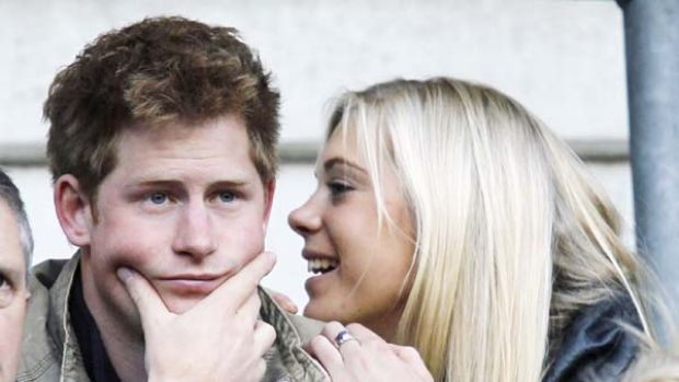 King of cool ... Prince Harry with Chelsy Davy.