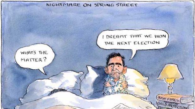 Nightmare on Spring Street. Illustration: John Spooner