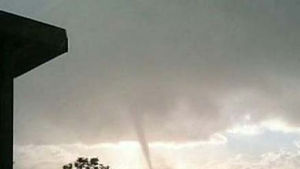 Waterspout ... 10 homes have been severely damaged.