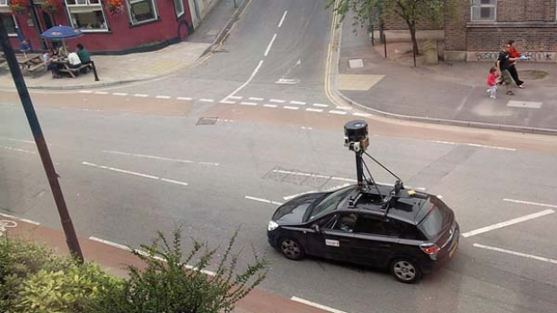 "A Google Street View car on the prowl ...  Photo: <a href=""http://www.flickr.com/photos/byrion/"">Byrion/Flickr</a>"