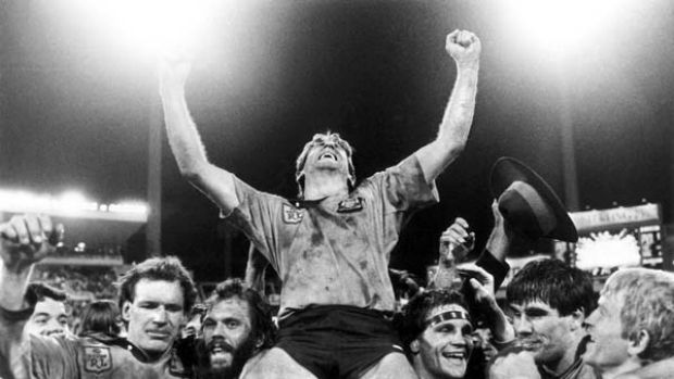 When we were kings: Steve Mortimer's victorious Blues back in 1985.