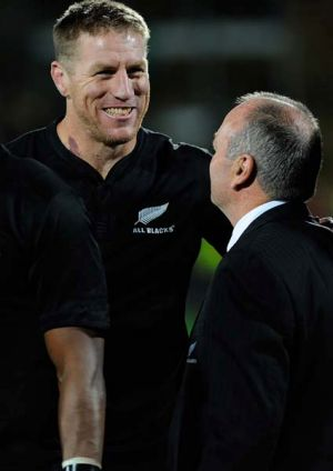 Veteran All Black lock Brad Thorn.