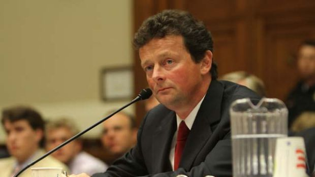 BP chief executive Tony Hayward appears at a  hostile congressional hearing into  the oil spill.