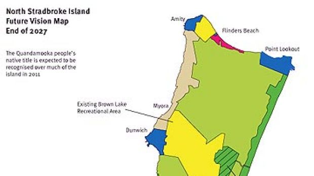 The proposed national park zoning of North Stradbroke Island.