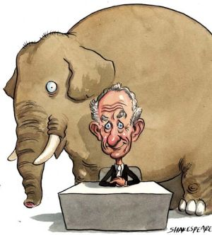 An elephant in the room ...  Wal King of Leighton Holdings explains all.