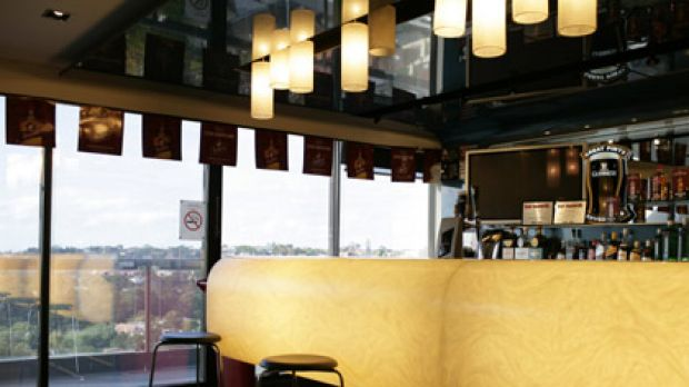 Drinks anyone? The bar at Diageo's Bondi Junction office.