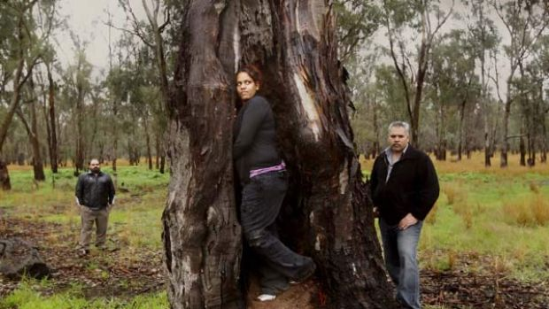 Left to right: Damien Morgan, Roxanne Atkinson and Neville Atkinson - Yorta Yorta Nation Aboriginal Corporation ...