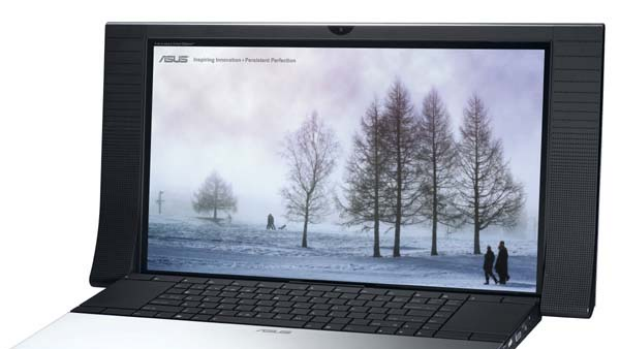 ASUS NX90 notebook: includes Bang & Olufsen audio technology.
