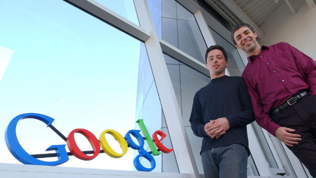 About to take on Facebook?: Google co-founders Sergey Brin, left, and Larry Page.