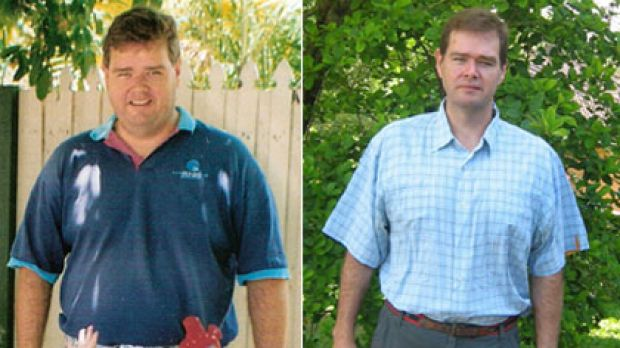 BEFORE: David Gillespie in 2002, left, struggled with obesity for many years and tried various diets to reduce his ...