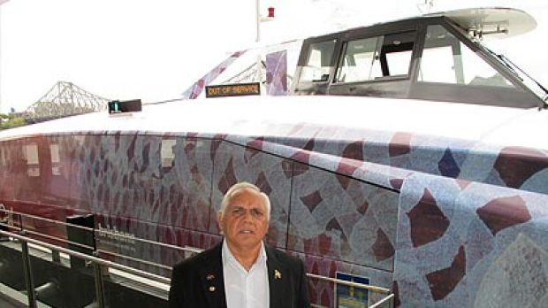 Aboriginal elder Joe Kirk was on hand for the unveiling of the Gootcha.