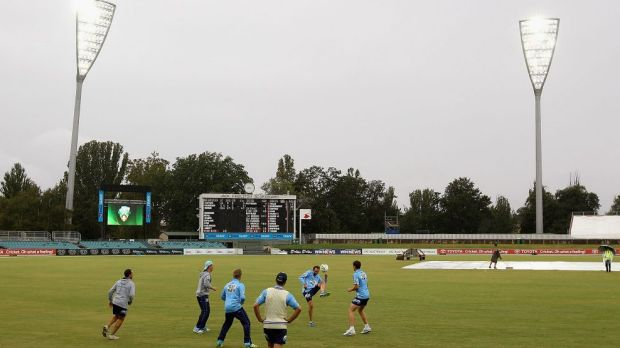 Manuka Oval was well received after hosting the Shield final.