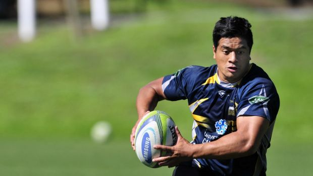 ACT Brumbies player Jarrad Butler during training at the AIS on Monday.