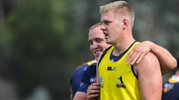 Tom Staniforth before his Super Rugby debut in 2014.