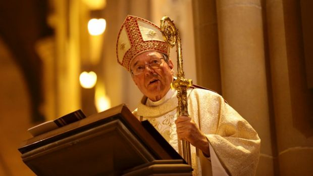 Former Archbishop of Sydney, Cardinal George Pell speaks at a mass of thanksgiving for his service as Archbishop, at St ...