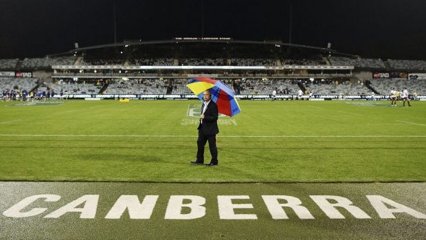 There were plenty of empty seats at Canberra Stadium on Friday night.