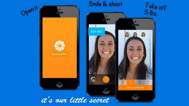 Too far? The SkinneePix app can retouch your selfies to remove weight.