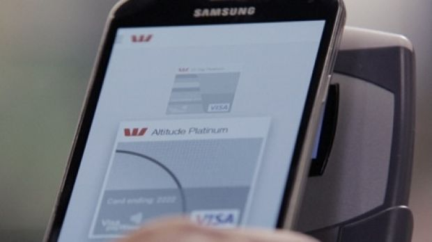 The Westpac mobile payment app on the Galaxy S4.