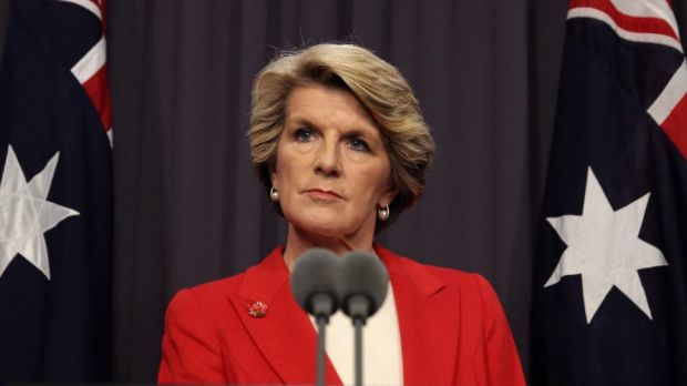 "Foreign Minister Julie Bishop: Australia ""will continue to rely on nuclear deterrence""."