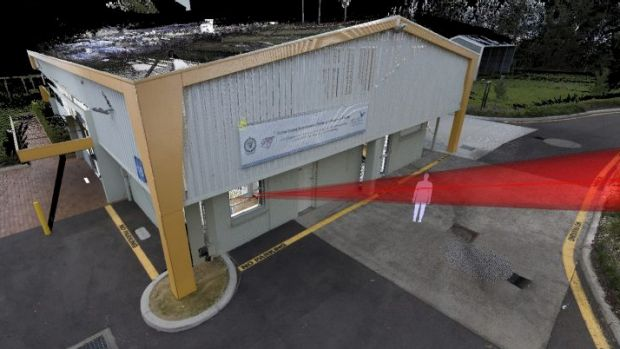 Accurate: A mock crime scene created by NSW Police's HDS7000 laser scanner.