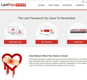 A screenshot of LastPass.