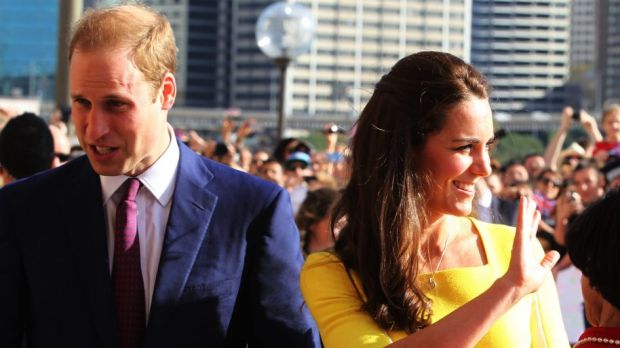The Duke and Duchess of Cambridge in Sydney.
